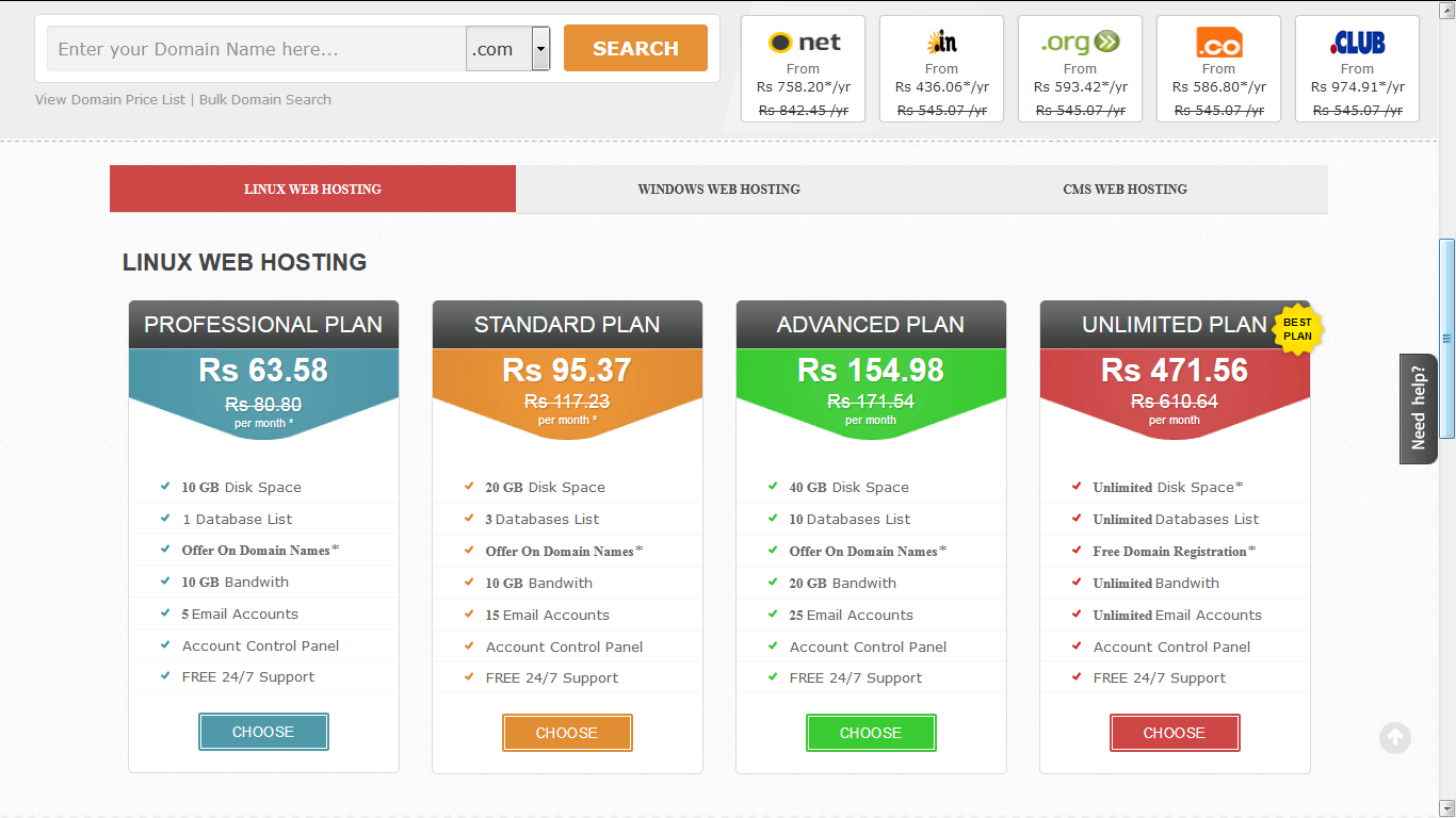 online web hosting and domain booking