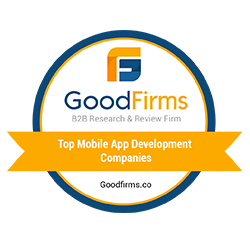 Top Web and Mobile app Development Company by goodfirms.com